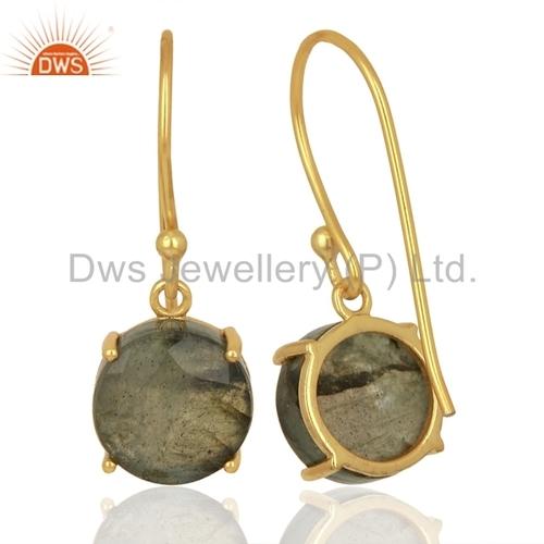 Natural Gemstone Sterling Silver Drop Earrings