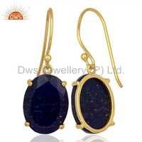 Natural Lapis Gemstone Earring Jewelry