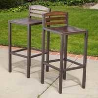 Chocklet Brown Highback Bar Chair