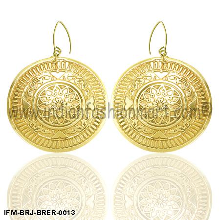 Zingara Sagacity - Brass Earrings
