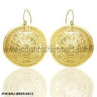 Zingara Sagacity - Brass Earrings