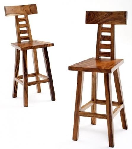 Highback Wooden Bar Stool Cum Chair