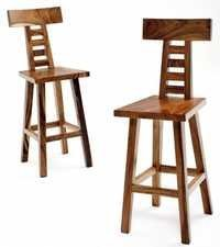 Highback Wooden Bar Stool Cum Chair