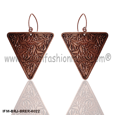 Zingara Opulance - Brass Earrings