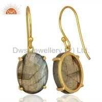 Labradorite Gemstone 925 Silver Earrings Wholesale
