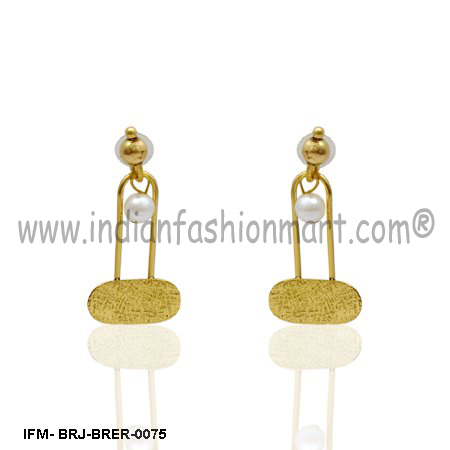 Omnium  Elegance  - Brass Earrings