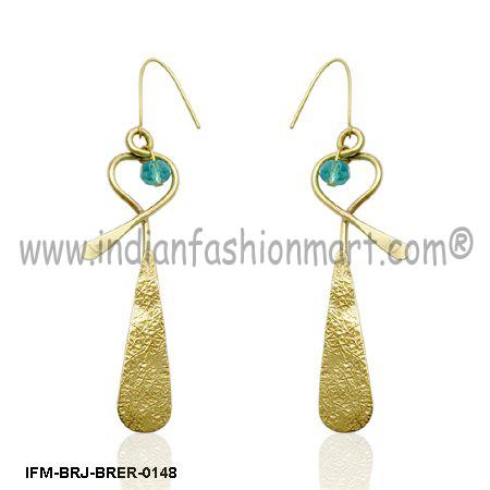 Snazzy Desideratum - Brass earrings