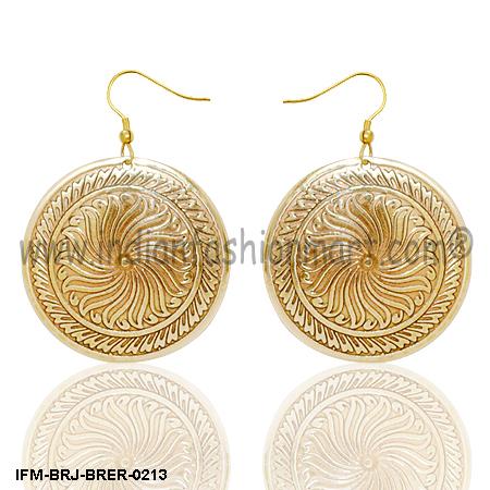 Sun Swerve  - Brass Earrings
