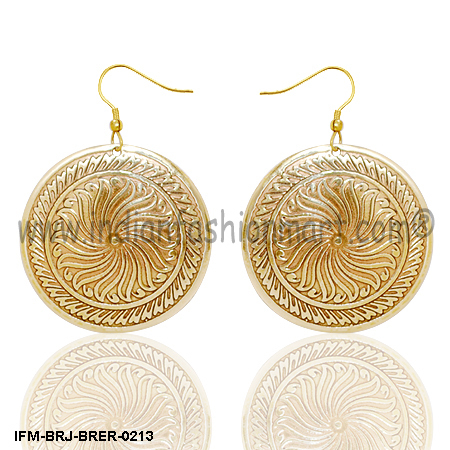 Sun Swerve  - Brass Earrings