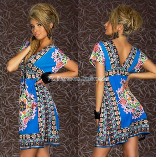Batik Print Short Dress