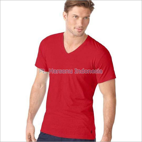 Men's Plain V Neck T-Shirts