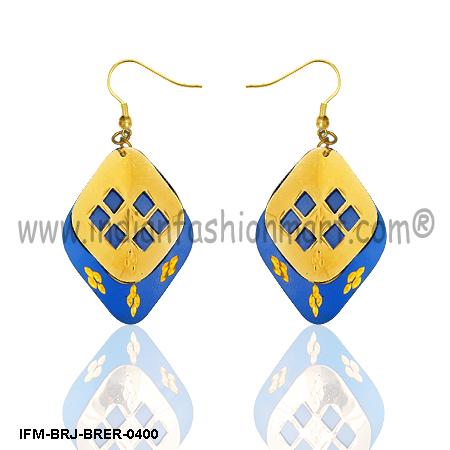 Divine  Pleasure-Brass Earrings