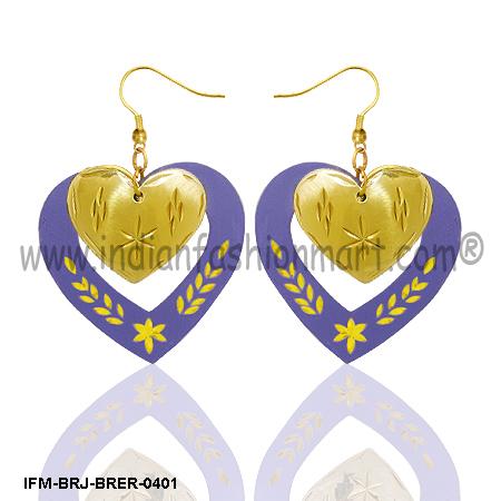 Glamorous Beats-Brass Earrings