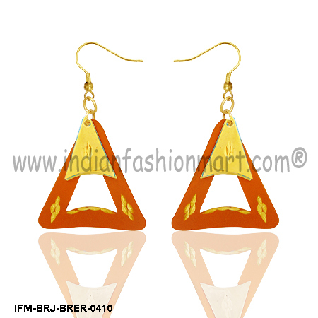 Vibrant  Desire - Brass Earrings