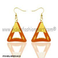 Vibrant  Desire - Brass Earrings