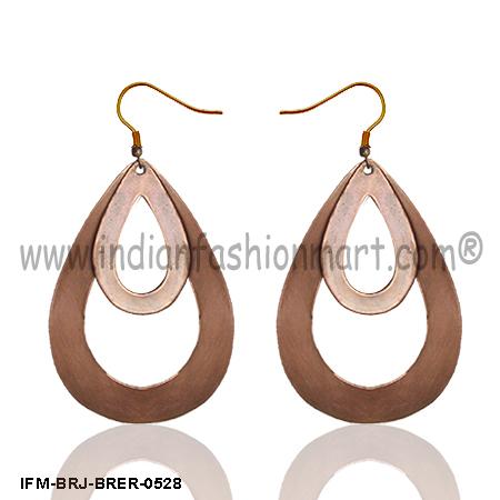 Dear n Trickle  -Brass Earrings