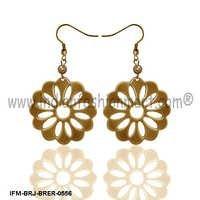 Floral Alexandrina -Brass Earrings