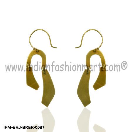Whigmaleerie Principal  - Brass Earring
