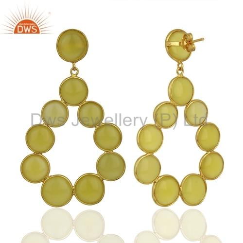 Handmade 925 Silver Fashion Gemstone Earrings