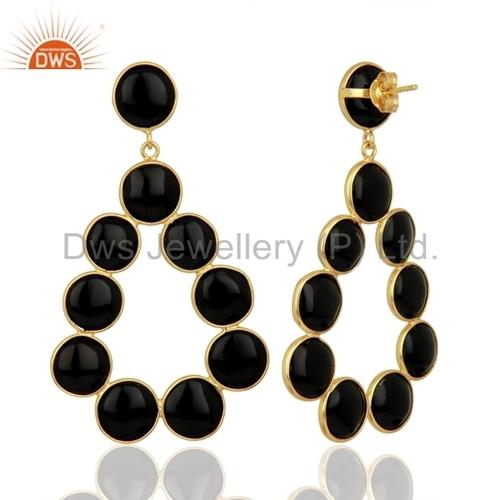 Round Shape Gemstone 925 Silver Earrings Suppliers