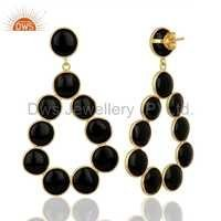 Round Shape Gemstone 925 Silver Earrings Suppliers