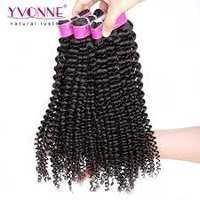 Yvonne Brazilian Kinky Curly Virgin Hair,3Pcs/lot Brazilian Hair Weave Bundles,