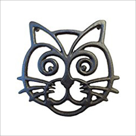 Cat Shaped Forged Iron Trivets