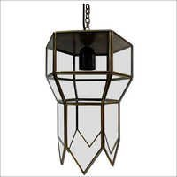 Glass & Brass Hanging Pendent Lights