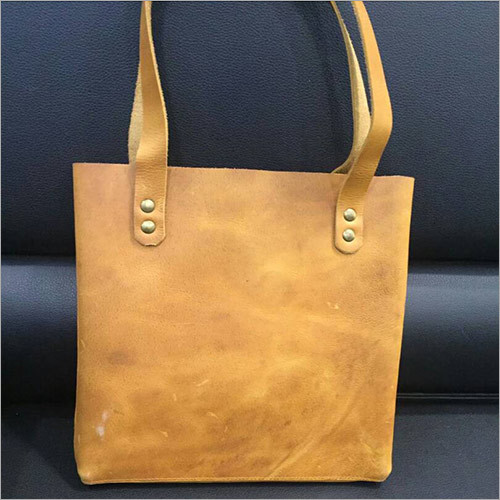 Leather Canvas Tote Bag