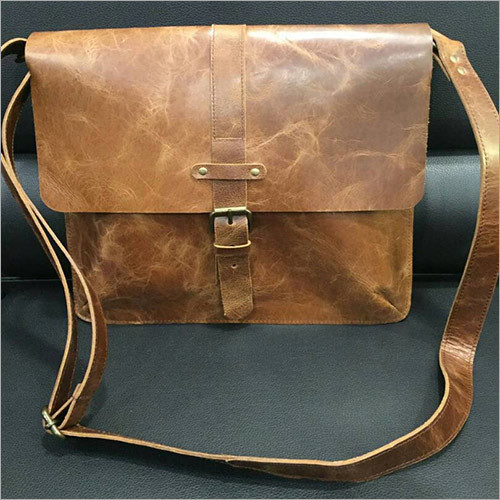 Designer Leather Messenger Bag