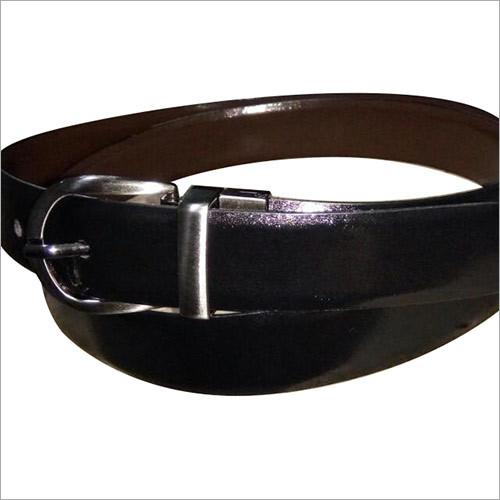 Italian Leather Black Mens Belt