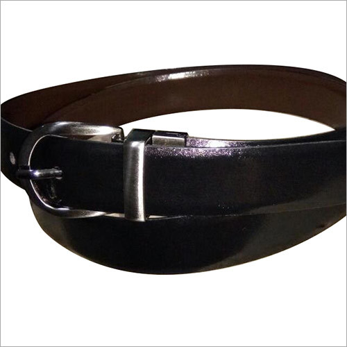 Italian Leather Black Mens Belt