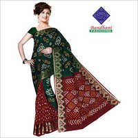 Bandhani Sarees in Black Art Silk
