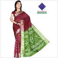 Designer Bandhani Printed Sarees