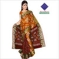 Latest Ladies Bandhani Printed Sarees