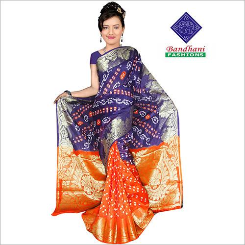 Wholesale Bandhani Printed Sarees