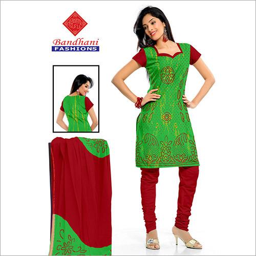 Bandhani Ladies Printed Suits with Dupatta Wholesale