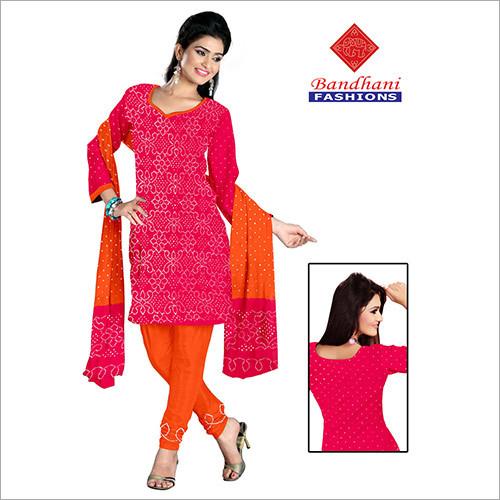 Bandhej Ladies Designer Dress Material Jamnagar