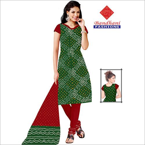 Latest Bandhani Printed Dress Material