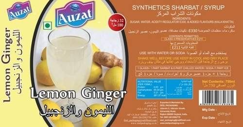 Lemon Ginger Sharbat