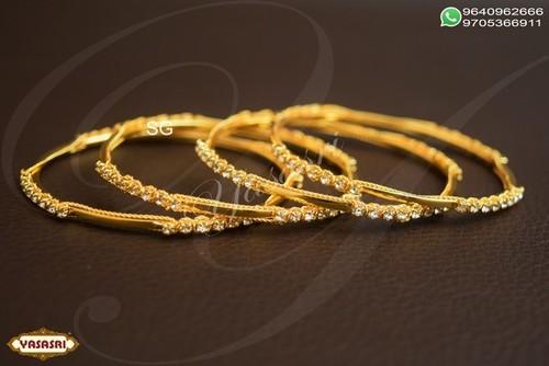 Cz ladies designer bangles