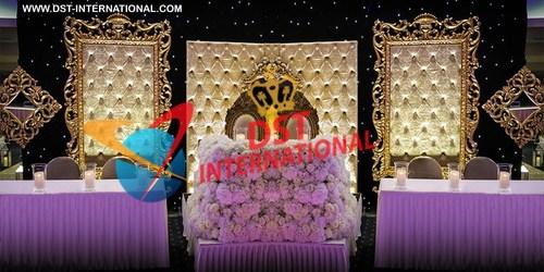 Fantastic Wedding Tufted Frames Stage