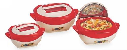 Plastic Casserole Hotpot Red