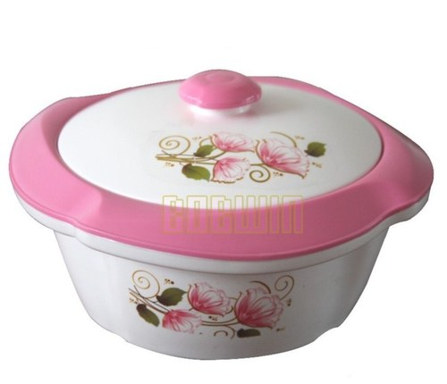 Plastic casserole hotpot pink