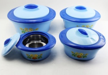 Plastic casserole hotpot blue