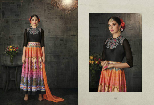 Anarkali Silk Suits