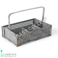 Galvanized Garden Basket