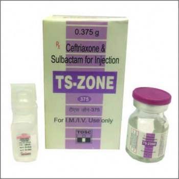 Ceftriaxone & Sulbactam for Injection – 375 mg