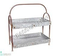 Galvanized Double Tray with Frame