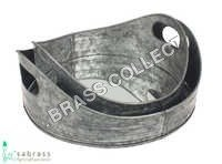 Galvanized Half Cut Oval Tray